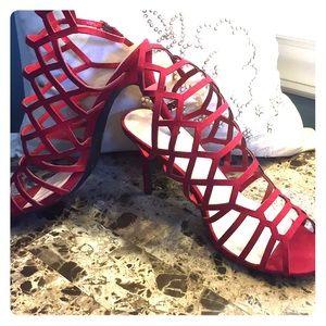 Suede sandals. Size 9
